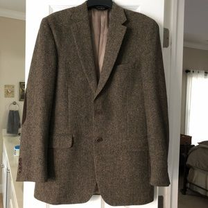 NWOT Jos. A. Bank 40L Tailored Fit Brown Tweed Jkt